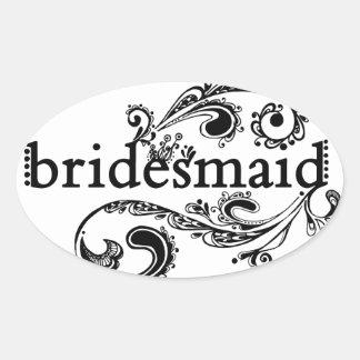 Bridesmaid Stickers