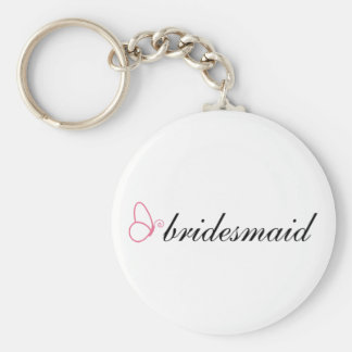 Bridesmaid Stylish Butterfly Wedding Gift Basic Round Button Keychain