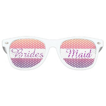 Beach Themed Bridesmaid Sunset Watercolor Ombre Purple Beach Retro Sunglasses
