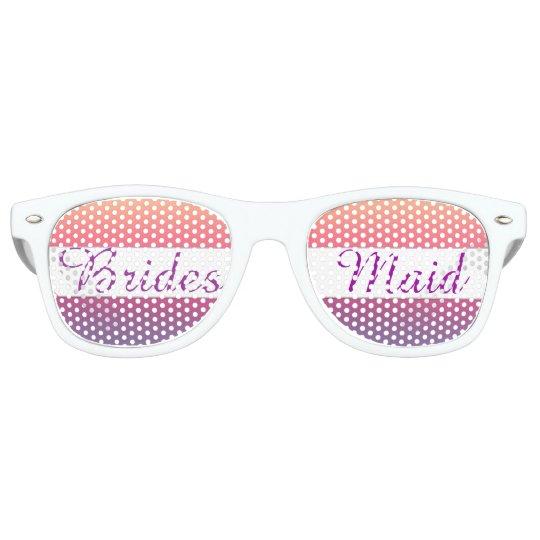 8d419ef4231 Bridesmaid Sunset Watercolor Ombre Purple Beach Retro Sunglasses ...
