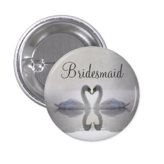 Bridesmaid - Swans in Love Button