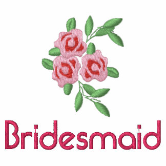 Bridesmaid T shirt with Embroidered Roses