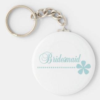 Bridesmaid Teal Elegance Keychain