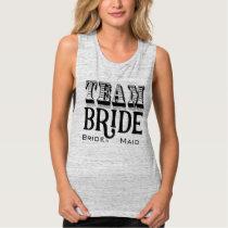 Bridesmaid Team Bride Hand Lettered Black Ink Tank Top