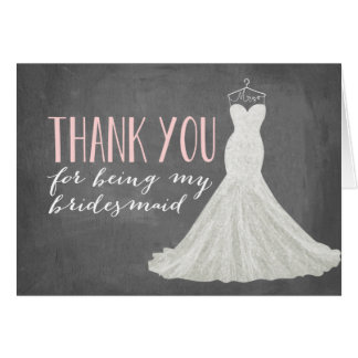 Bridesmaid Thank You | Bridesmaid Card