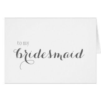 Bridesmaid Thank You Stationery Note Card