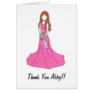 Bridesmaid Thank you Card 2