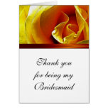 Bridesmaid Thank You Card Antique Yellow Rose