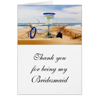 Bridesmaid Thank You Card Beach Wedding