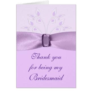 Bridesmaid Thank You Card Lavender Lane