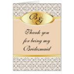 Bridesmaid Thank You Card Peaches and Cream