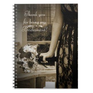 Bridesmaid Thank You Gift Notebook