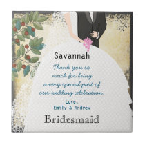 Bridesmaid Thank You Tile Gown with Tree Swirls