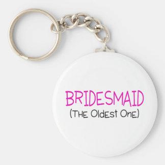Bridesmaid The Oldest One Basic Round Button Keychain