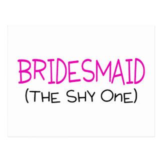 Bridesmaid The Shy One Postcard