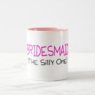 Bridesmaid The Silly One Two-Tone Coffee Mug