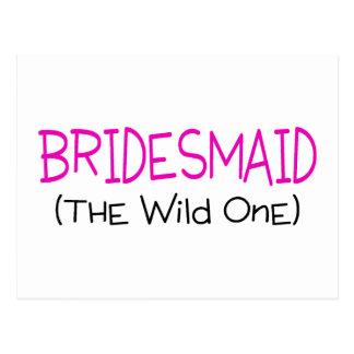 Bridesmaid The Wild One Postcard