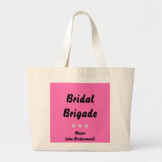 Bridesmaid Tote Bag -- Your Color Bridal Brigade
