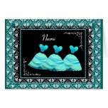 BRIDESMAID - TURQUOISE Gowns and TEAL Trim Greeting Card