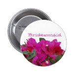 Bridesmaid Vivid Flowers 2 Inch Round Button