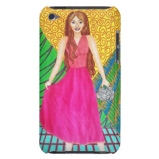 Bridesmaid Wearing A Pink Gown iPod Touch Cover
