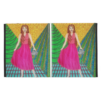 Bridesmaid Wearing A Pink Gown iPad Folio Cases