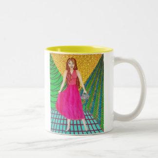 Bridesmaid Wearing A Pink Gown Mug