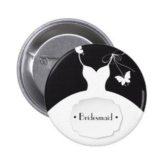 Bridesmaid Wedding Pinback Button