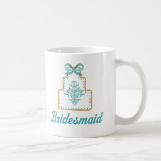 Bridesmaid Wedding Cake Cookie Bridal Gift Coffee Mug