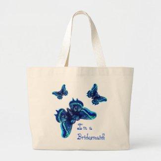 Bridesmaid Wedding Favor Bag - Blue Butterflies bag