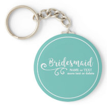 Bridesmaid Wedding Favor Name or Monogram Script Keychain