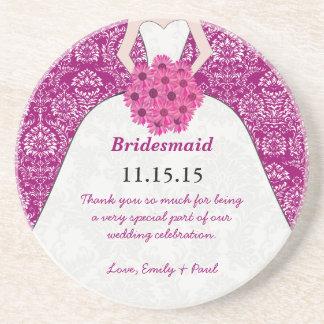 Bridesmaid Wedding Gown Coasters
