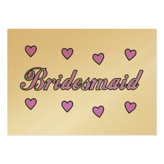 Bridesmaid Wedding Hearts Business Card Templates