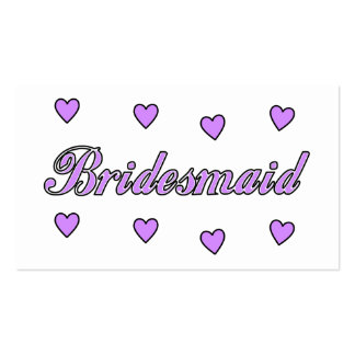 Bridesmaid Wedding Hearts Business Cards