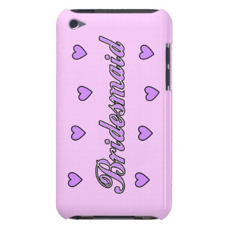 Bridesmaid Wedding Hearts Barely There iPod Cover