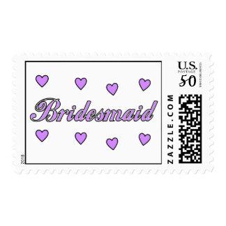 Bridesmaid Wedding Hearts Postage