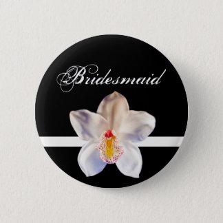 Bridesmaid Wedding ID Badge Pinback Button