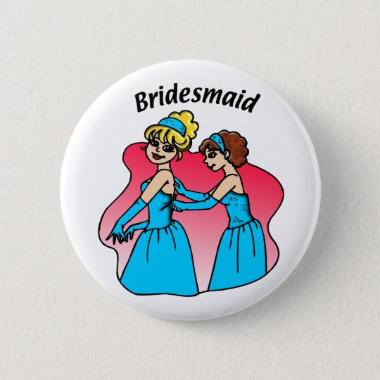 Bridesmaid Wedding ID Button