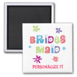 Bridesmaid Wedding Party 2 Inch Square Magnet