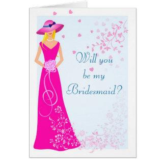 Bridesmaid Wedding Party Card