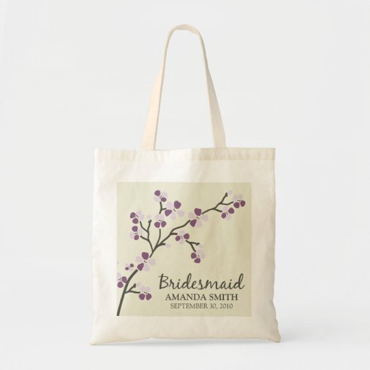 Bridesmaid Wedding Party Gift Bag (plum)