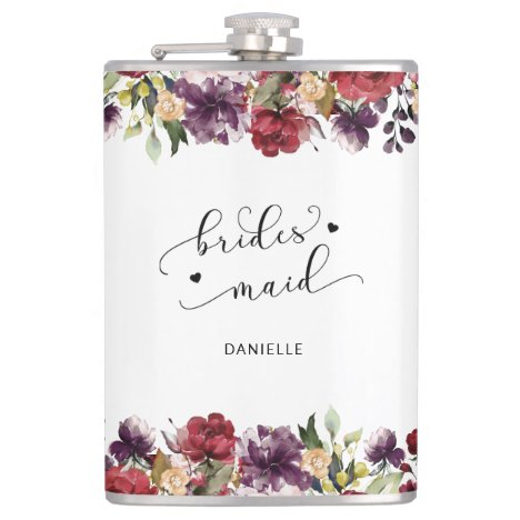 Bridesmaid Wedding Party Gifts Stainless Steel Flask