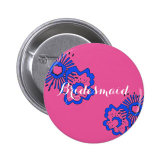 Bridesmaid Wedding Party Pin - Spring Theme Favors