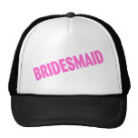 Bridesmaid Wedding Pink Trucker Hats
