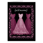 BRIDESMAID Wedding Thank You - PINK Gown Card