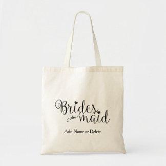 Bridesmaid Wedding Tote Budget Canvas Tote Bag
