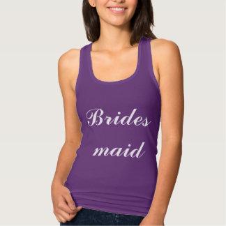Bridesmaid Weddings Dark Purple Rush Trendy Simple Tank Top