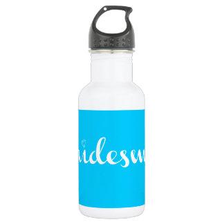 Bridesmaid White on Light Blue 18oz Water Bottle