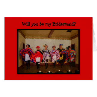 Bridesmaid -- Wild West Dance Hall Girls Card