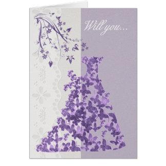 Bridesmaid, Will you be my Bridesmaid? Greeting Card